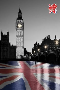 The London 2012 Olympic Games Big Ben.   .....all things union jack