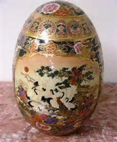 Image result for Oriental Satsuma Porcelain Egg