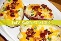These potatoes are filled with everything that I love! So creamy! I never would have thought Twice Baked Potatoes could be so easy!
