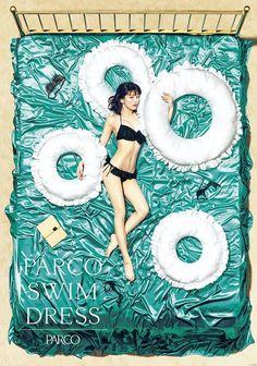 """パルコの水着広告に""""新くびれ女王""""佐藤美希が登場│WWD JAPAN"""