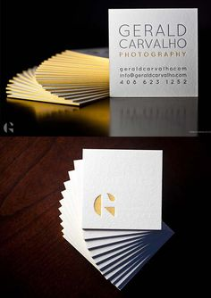 Creative Letterpress Edge Painted Business Card Design