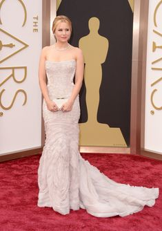 Kristen Bell in Roberto Cavalli | All The Most Beautiful Blush Gowns From The Oscars Red Carpet