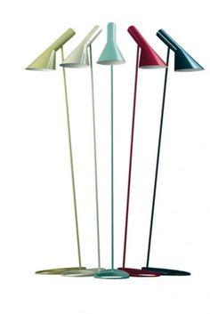 Floor lamp designed by Arne Jacobsen