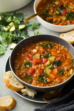 Italian+Vegetable+Lentil+Soup