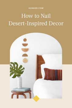When it comes to a desert-inspired look, it's all about getting in tune with nature. Think about spaces like Joshua Tree, which constantly inspires artists and designers. Here, we're looking at some ways to bring desert decor into your home. #hunkerhome #outdoorspaces #desert #desertinspired #desertdecor Rope Decor, Rustic Planters, Desert Homes, Geometric Wall, Soft Blankets, Wood Pieces, Minimalist Design, Decorating Tips, Decorative Items
