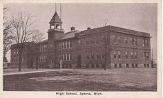Sparta High School Sparta Michigan, Old Photos, High School, Louvre, Farmhouse, Building, Travel, Home, Old Pictures