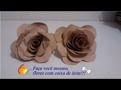 ▶ Como fazer flores com caixa de leite! - YouTube