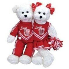 """chantilly lane    these two bears are attached    they have onred *Love U* outfits    they sing the song """"SHOUT""""    They both sing and mouth movement with along with the voice.    New with tag attached. 