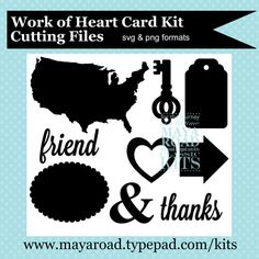 Work of Heart Free Digital Cutting Files from Maya Road in PNG and SVG formats