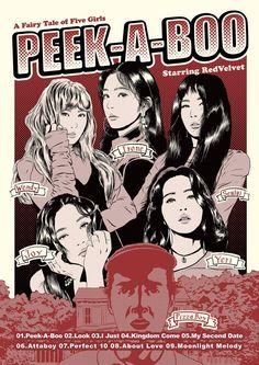 red velvet peek a boo palette Bts Poster, Bel Art, Kpop Posters, Kpop Fanart, Peek A Boos, Animes Wallpapers, Wall Collage, Album Covers, Red Velvet