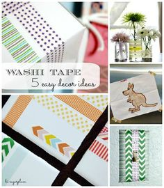 Hi Sugarplum | Round-Up of Fun, Easy Washi Tape projects