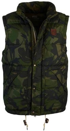 Polo Ralph Lauren Mens Elmwood Camo Down Vest - S - Camo Polo Ralph Lauren ++ You can get best price to buy this with big discount just for you. Military Inspired Fashion, Military Fashion, Mens Fashion, Mens Down Vest, Mens Outdoor Jackets, Tactical Wear, Camo Shirts, Men Street, Vintage Outfits