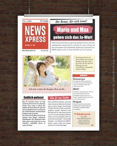 © Druckeselbst! Vorlage Hochzeitszeitung