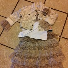 Put this lil outfit together... Made undershirt added lace to jacket sleeves! Hadlee was so cute!!!