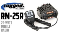 Power, performance, and price lead the feature list in this new 25-Watt mobile radio from Rugged Radios. The RM-25R is a compact radio that provides 25-watts of output, surpassing the range of CB's and handheld radios at an affordable price.