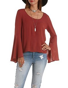 Chiffon Tops, Blouses & Button-Up Shirts: Charlotte Russe