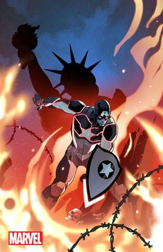 Apocalypse Wars variant cover Captain America: Steve Rogers #1