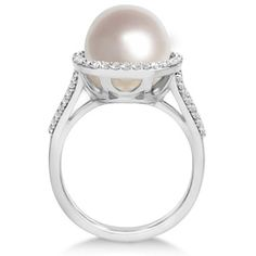 Paspaley South Sea Cultured Pearl & Diamond Halo Ring by Allurez, $1,768.20