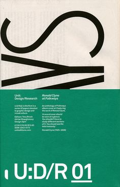 Unit: Design/Research: Issue 01, Ronald Clyne at Folkways