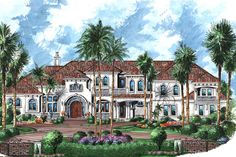 House Plan 1018-00271 - Mediterranean Plan: 10,662 Square Feet, 6 Bedrooms, 8.5 Bathrooms