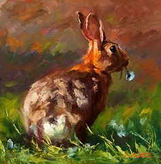 thumper by Cheri Christensen Oil ~ 12 x 12 Bunny Painting, Oil Painting On Canvas, Watercolor Paintings, Canvas Art, Rabbit Art, Bunny Art, Acrylic Wall Art, Southwest Art, Wildlife Art