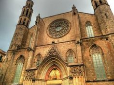 The incredible church of Santa María del Mar, found in the old quarter of Borne