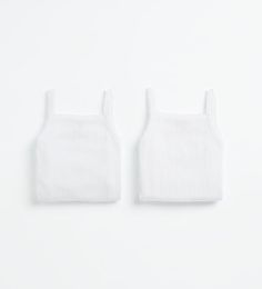 Pack of two bodysuits with straps