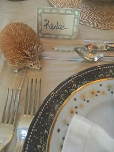 Nest by Tamara - picked up these cute little hedgehogs and Holiday plates, glittery placemats from @HomeGoods #happyByDesign to set my Thanksgiving table