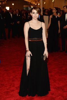 Emma Roberts in a DVF dress at 2013 Met Gala