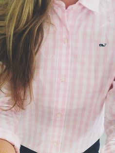 Vineyard Vines Pink Gingham Button down
