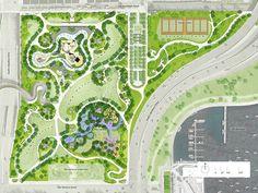 Design Maggie Daley Park was designed by Michael Van Valkenburgh Associates. Its design is based … Landscape Design Plans, Landscape Architecture Design, Architecture Plan, Architecture Diagrams, Architecture Portfolio, The Plan, How To Plan, Park Landscape, Urban Landscape