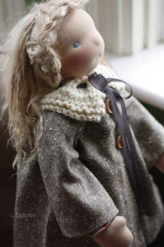 Bias cut wool doll coat, by Fig&me