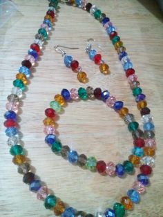 Crystal beads set