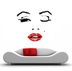 Aliexpress.com : Buy 110X90cm Hot Red Clip Marilyn Monroe Vinyl Decal, Home  Decor · Wall Art ... Part 90
