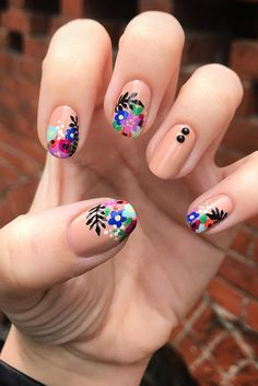 50 Super Pretty Floral Nail Designs These trendy Nails ideas would gain you amazing compliments. Check out our gallery for more ideas these are trendy this year. Flower Nail Designs, Pretty Nail Designs, Nail Art Designs, Pink Nails, Gel Nails, Stiletto Nails, Acrylic Nails, Nail Manicure, Nail Polish