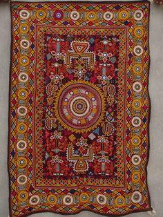 Vintage Banjara Mirror Embroidery Rabari Ethnic Kutch Tribal Wall Hanging Tapestry BY artisanofrajasthan