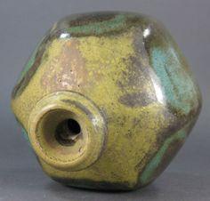 Vtg Mid Century JOEL EDWARDS Ceramic Hexagon Weed Pot Pottery Vase Eames Era   eBay
