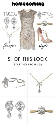"""""""Homecoming 1920s Flapper Style"""" by rubysal ❤ liked on Polyvore featuring Gatsby, Bling Jewelry, contemporary, vintage and contestentry"""