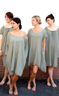 COCOON'S TÖCHTER linen, silk, cotton ecological and sustainable ecofashion dress. Natural handdyed