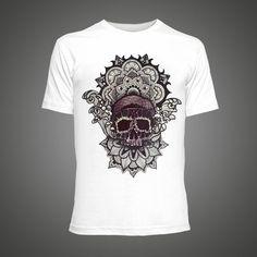2016 summer Men T-shirt Skull Mandala series tshirt Short Sleeve O Neck  Tops Tees Fashion T shirt men luxury tee shirt homme 0d177b5d9290