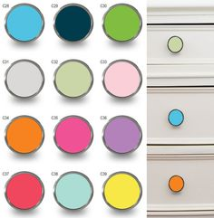 colourful cupboard door knobs handles door pulls for cabinets, chest of drawers and wardrobes