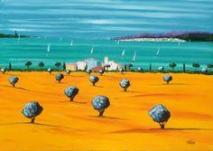 LA CÔTE D'AZUR - THE FRENCH RIVIERAWelcome to the official website of Jean-Claude Tron Saint Tropez, Palm Beach, La Croisette, French Riviera, Website, Painting, Art, Paintings, Poppies