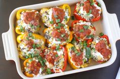 Southwestern Stuffed Peppers  from What Megan's Making