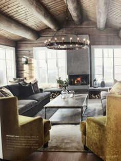 Cosy Interior, Interior Design, Cabin Chic, Cabin Interiors, Room Lights, Log Homes, Cozy House, My Dream Home, Decorating Your Home