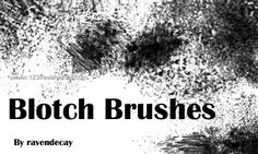 Ink Blotch - Download  Photoshop brush http://www.123freebrushes.com/ink-blotch-2/ , Published in #GrungeSplatter. More Free Grunge & Splatter Brushes, http://www.123freebrushes.com/free-brushes/grunge-splatter/ | #123freebrushes