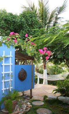 Outdoor Shower, Starfish Cottage, Eleuthera, Bahamas