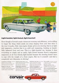 Chevy Corvair, 1960 - great memories of the one we had growing up, turquoise in color! (LL)