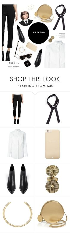 """""""office party"""" by magdafunk ❤ liked on Polyvore featuring Smythe, Viktor & Rolf, Kate Spade, Acne Studios, Chanel, Boutique Moschino and Melissa Odabash"""