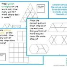 This is a common core geometry center   As students compose and decompose plane or solid figures they build understanding of part-whole relationshi...