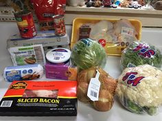 Budget Low Carb $25 Seven Day, Three Meals Daily Dollar Tree Menu For One